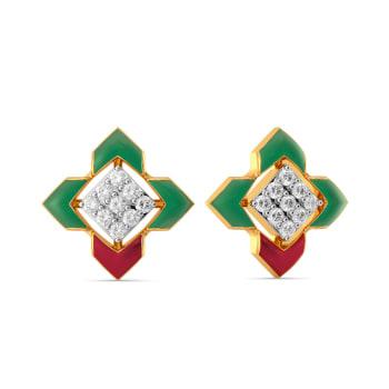 Happy Go Preppy Diamond Earrings