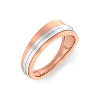 Soft Trapazoid  Gold Rings