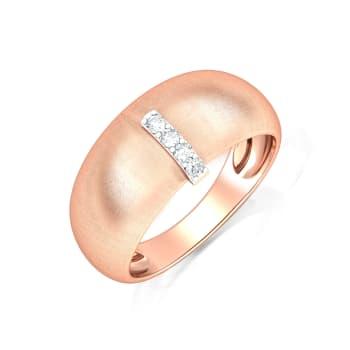 Pastel Pebble Diamond Rings