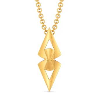 Bow Toned Gold Pendants