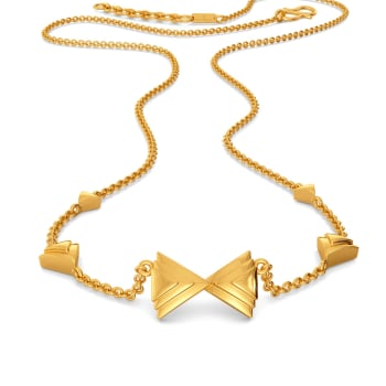 Bow Overlay Gold Necklaces