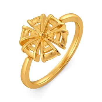Raffia Refresh Gold Rings