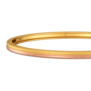 Fastened Up Gold Bangles