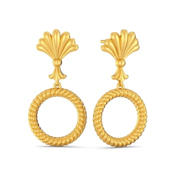 The Calm Palm Gold Earrings
