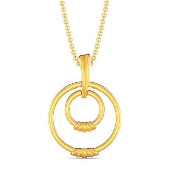 Swirl Curl Gold Pendants