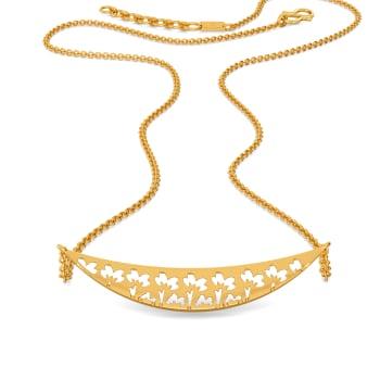 Flowy Florals Gold Necklaces