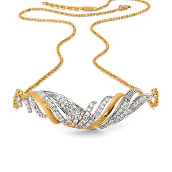 Vision in White Diamond Necklaces