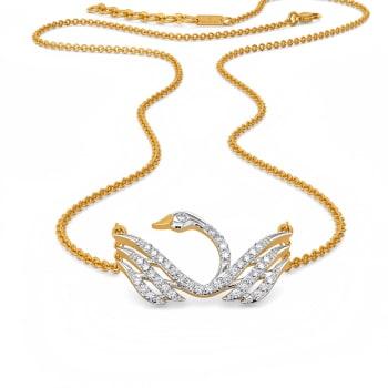 Swan Serenity Diamond Necklaces