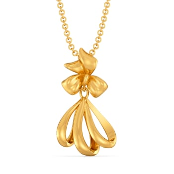 Bow Bunched Gold Pendants
