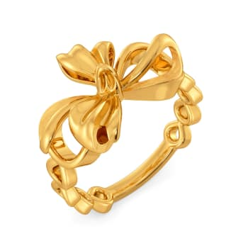 Breezy Bows Gold Rings