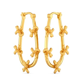 Bow Booster Gold Earrings