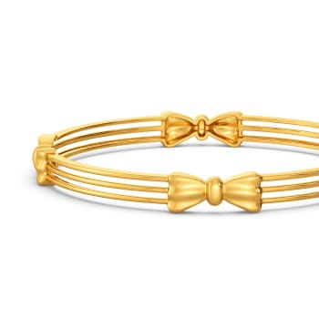 Bows to Remember Gold Bangles