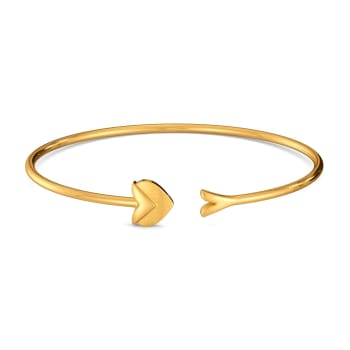 Hearts in Bougie Gold Bangles