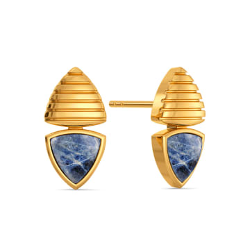 Hippie Denim Gemstone Earrings
