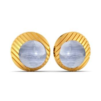 Speckled in Blue Gemstone Earrings
