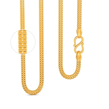 22kt Textured Double Box chain Gold Chains