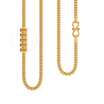 22kt Cylindrical Linked Chain Gold Chains