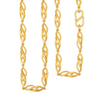 Crazy Wavy Gold Chains