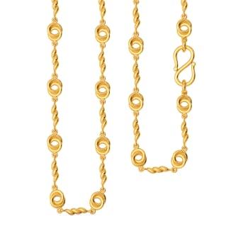 Twisty Wheels Gold Chains
