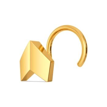 Rhomb Radiance Gold Nose Pins