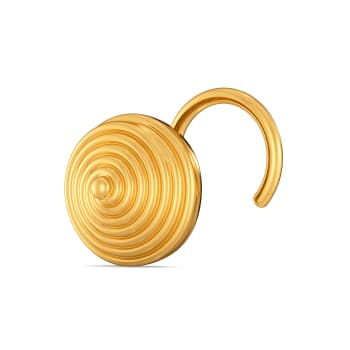 Pool of Whirl Gold Nose Pins