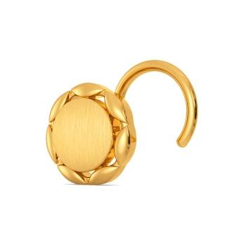 Scallop Savoir Gold Nose Pins