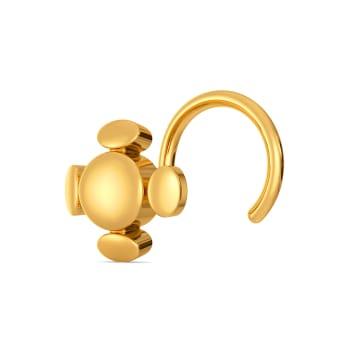 Whirl Wonder Gold Nose Pins