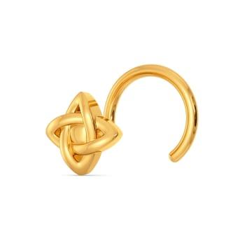 Petal It Out Gold Nose Pins