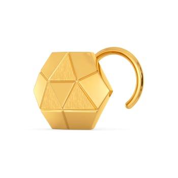 Fractal Finesse Gold Nose Pins
