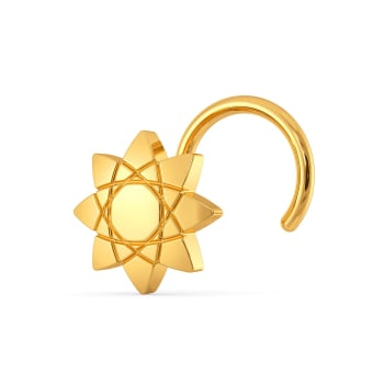 Ornate Atoms Gold Nose Pins