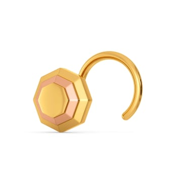 Ornate Octa Gold Nose Pins