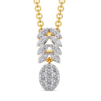 Link N Leaf Diamond Pendants