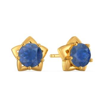 Blue Toned Gemstone Earrings