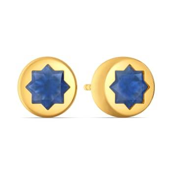 Blue Bunched Gemstone Earrings