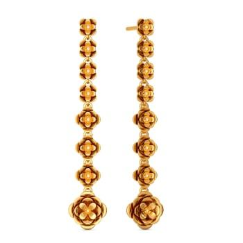 A Floret Feeling Gold Earrings