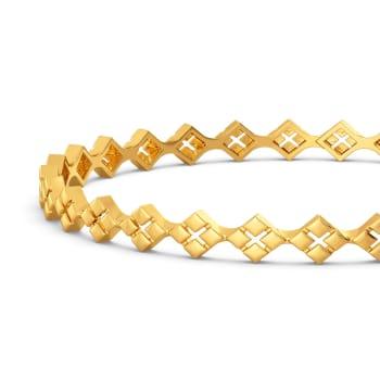 Lucid Plot Gold Bangles