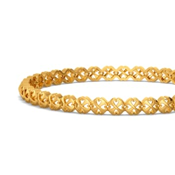 Hustle O Fleur Gold Bangles