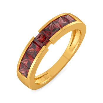 Red in Retro Gemstone Rings