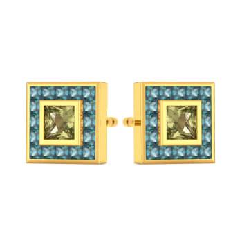 Colour Blocked Gemstone Earrings