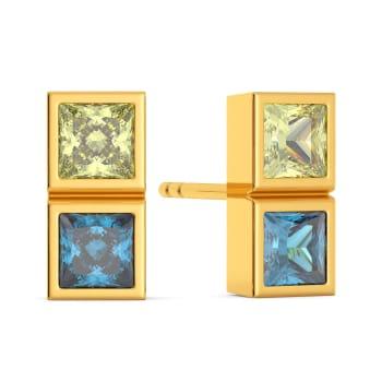 Twin Themed Gemstone Earrings