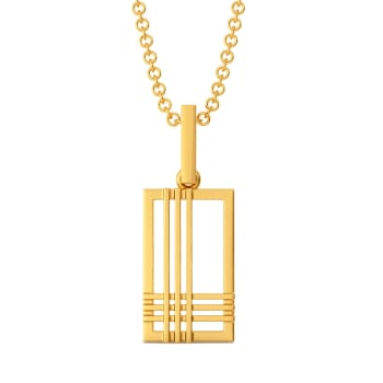 Plaid Panache Gold Pendants