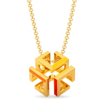 Pop Blocks Gold Pendants