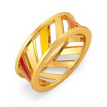 Fearless Hues Gold Rings