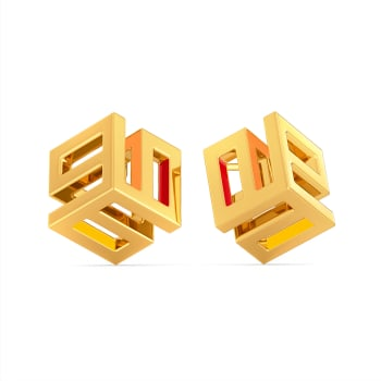 Fearless Hues Gold Earrings