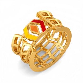 Beaut Blocks Gold Rings