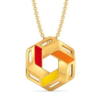Block O Meter Gold Pendants