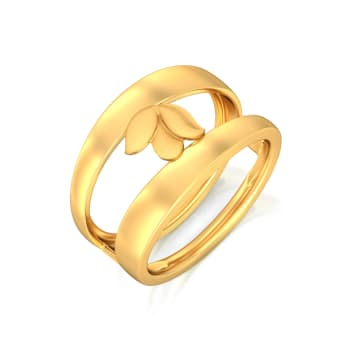 Shy Lily Gold Rings