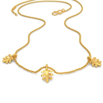 The Oak Stroke Gold Necklaces