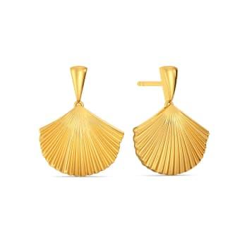 Scallop Bay Gold Earrings