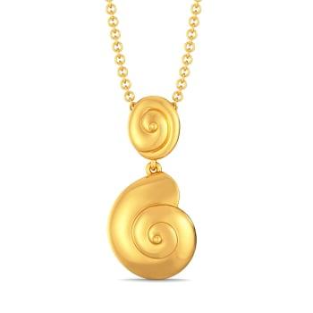 Shell Belle Gold Pendants